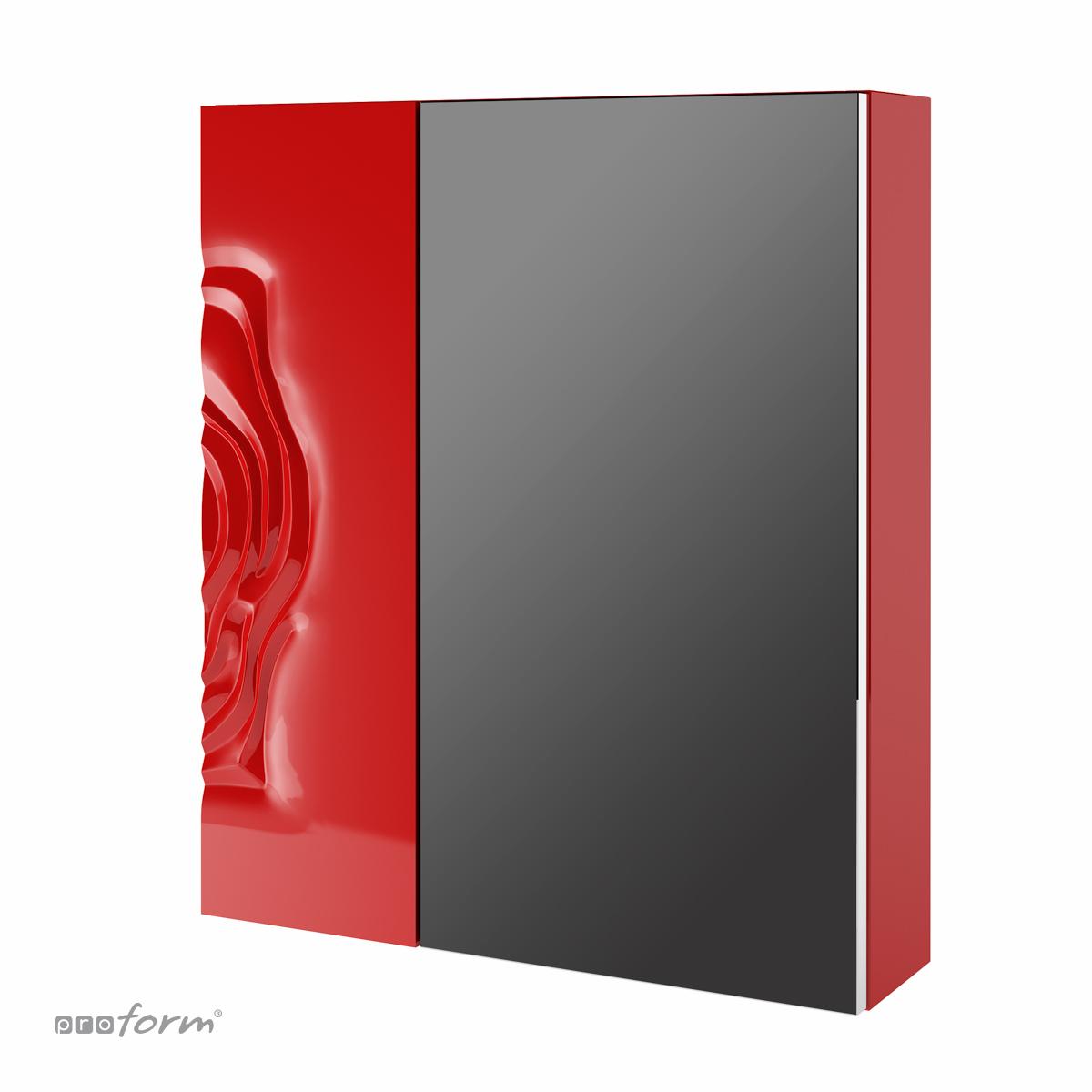 Szafka ROSE z lustrem czerwona