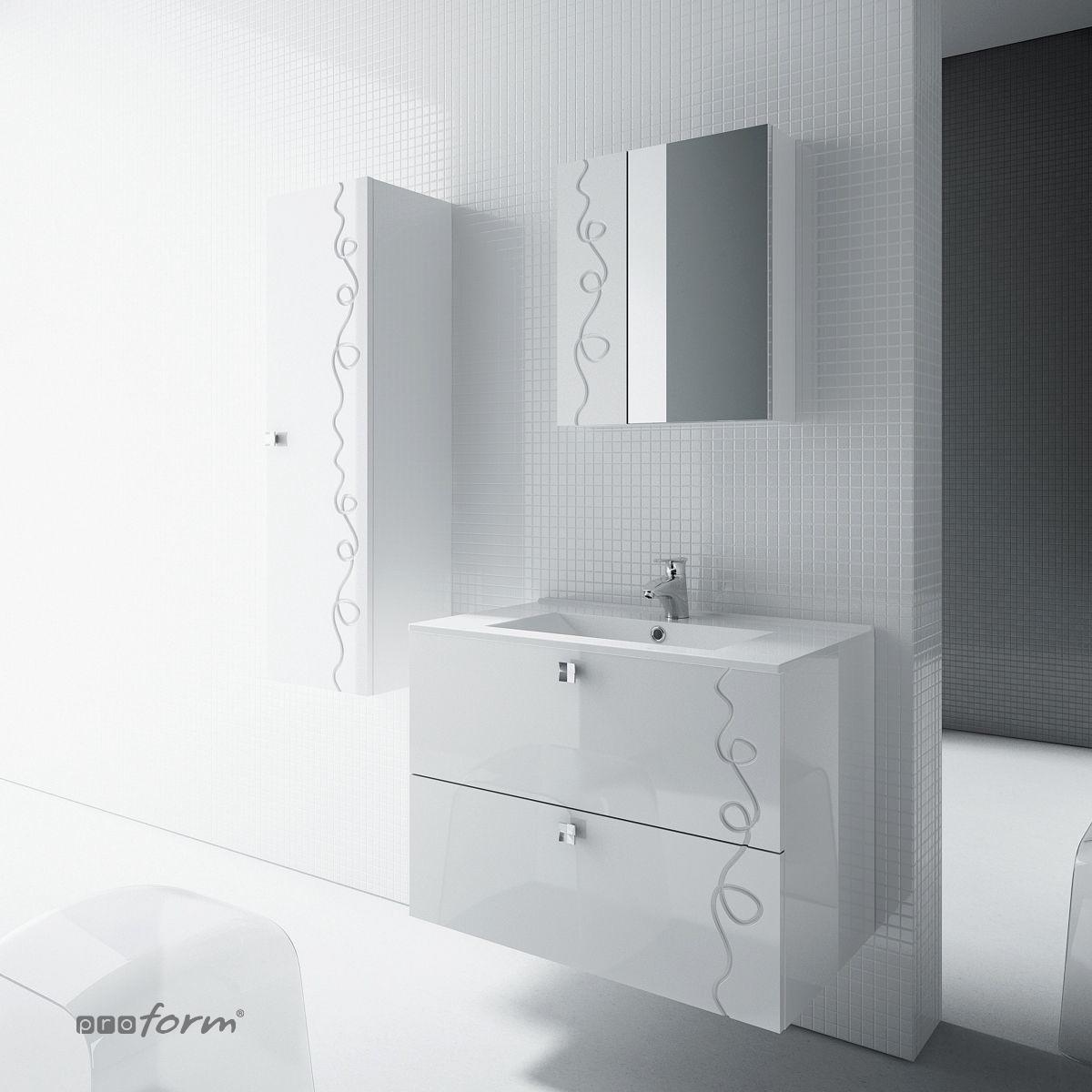Szafka ARCO pod umywalkę 60 2 szuflady biała