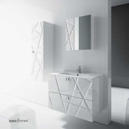 Szafka CRISTALLO pod umywalkę 60 z dwoma szufladami biała
