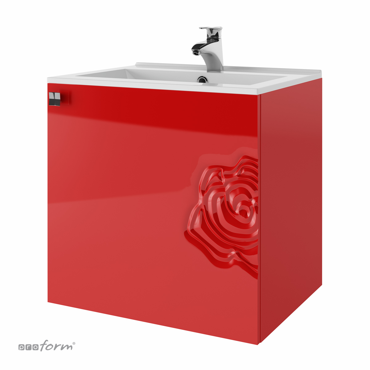Szafka ROSE pod umywalkę 60 czerwona
