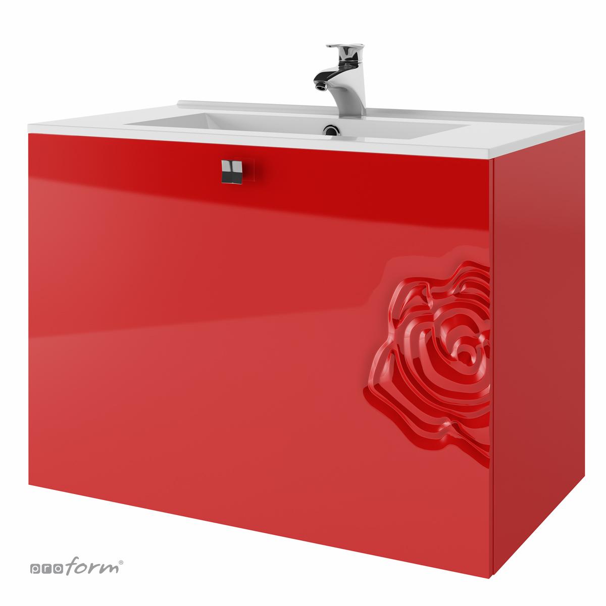 Szafka ROSE pod umywalkę 80 czerwona Proform