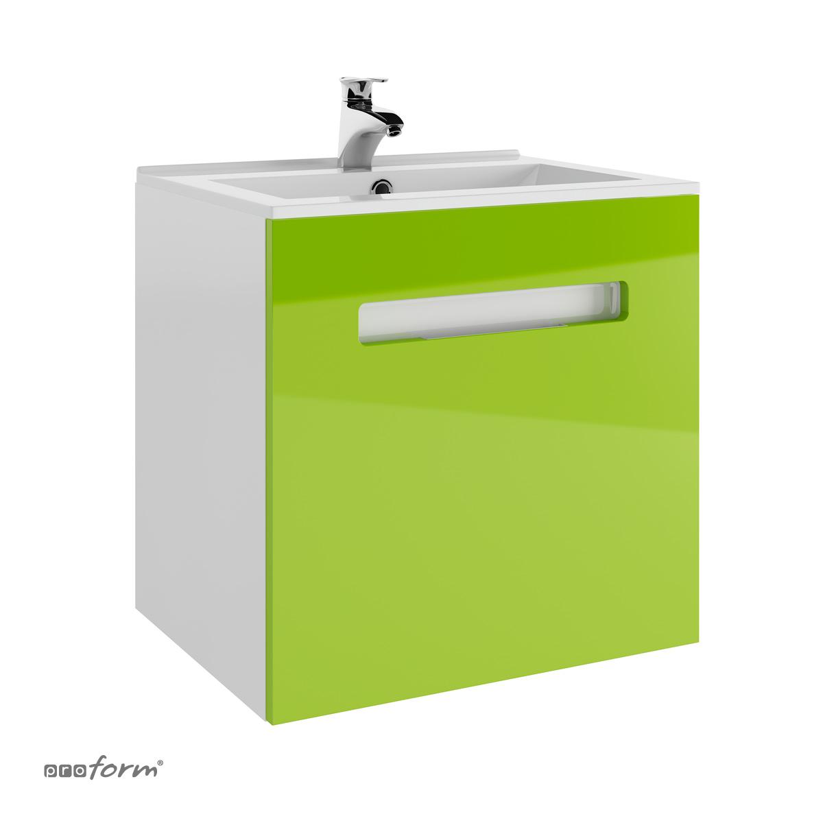 Szafka OPEN pod umywalkę PLAN 60 zielona