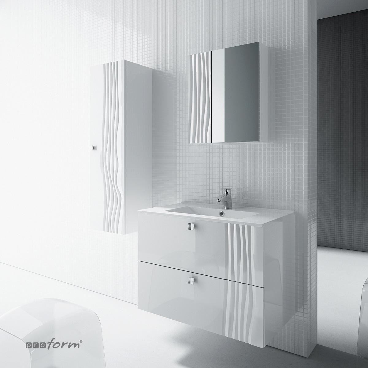 Szafka GRAFIATTO 60 - 2 szuflady biała