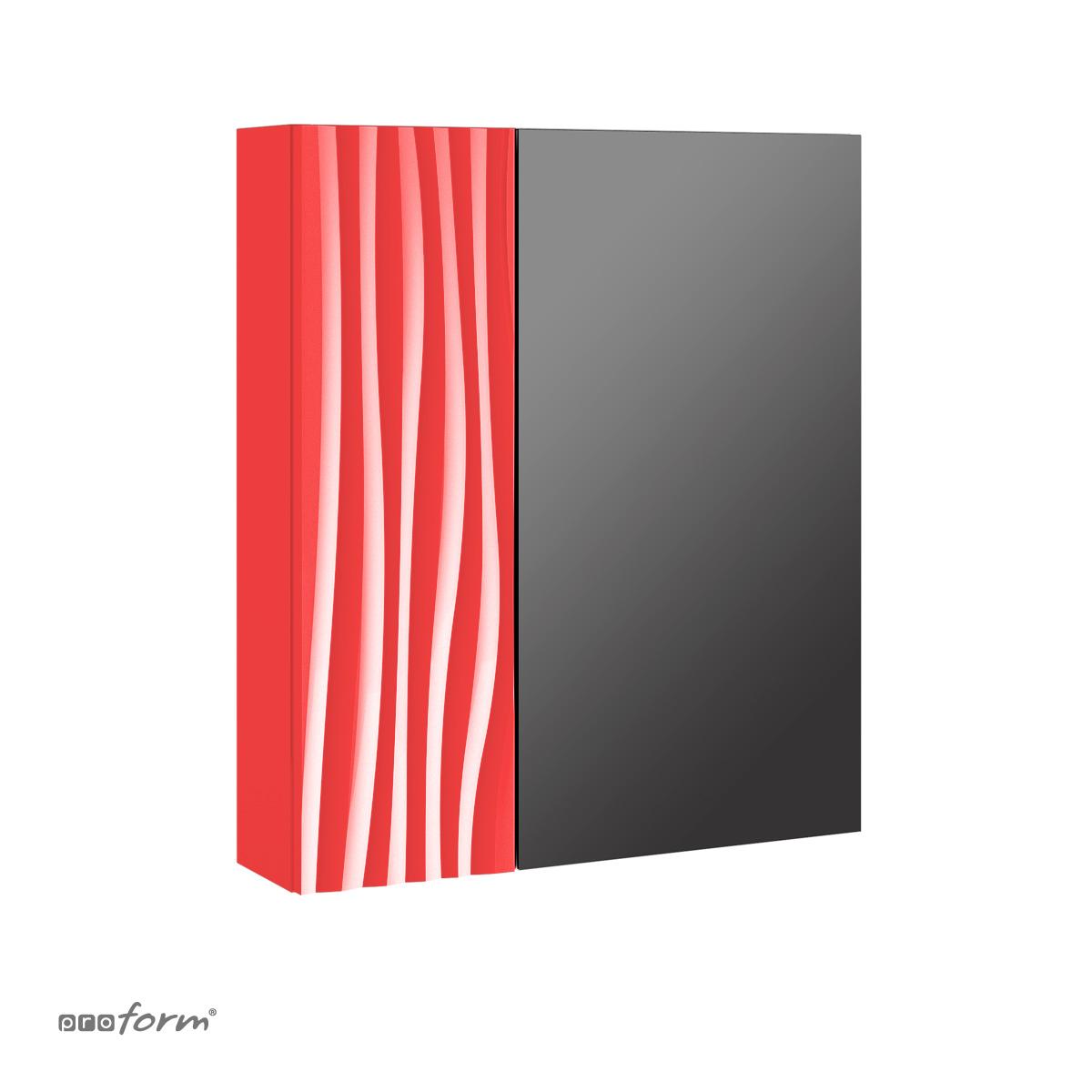 Szafka GRAFIATTO z lustrem czerwona