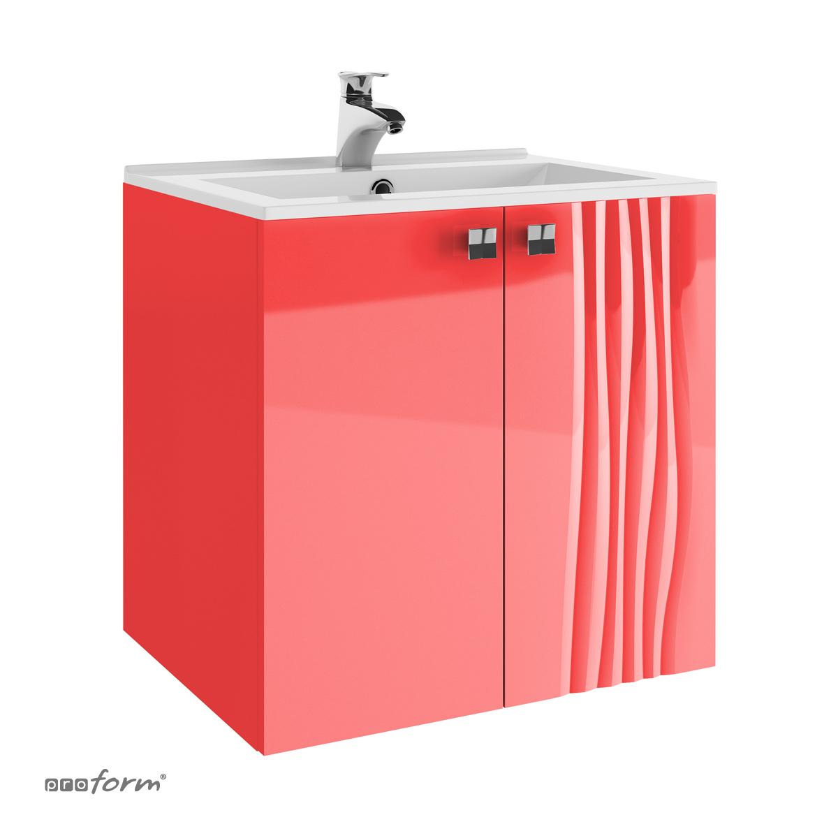 Szafka pod umywalkę GRAFIATTO 60 III 2 fronty Proform