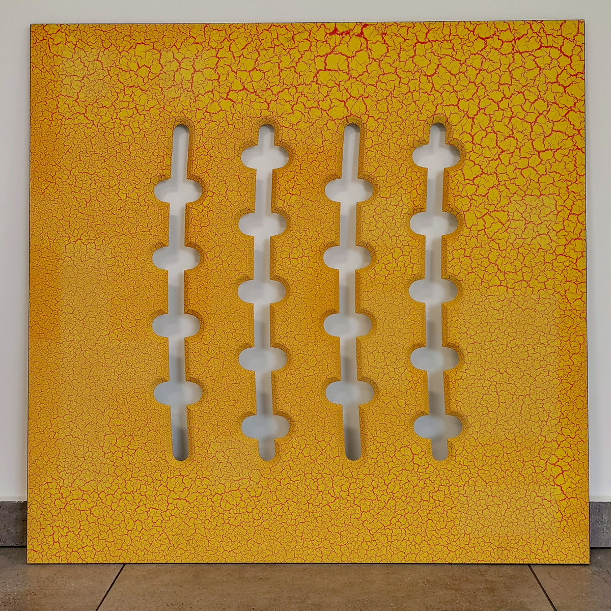 Panel Crack Żółty 860x860