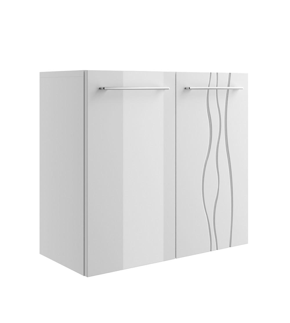 Szafka łazienkowa REMIS 2 fronty biały połysk