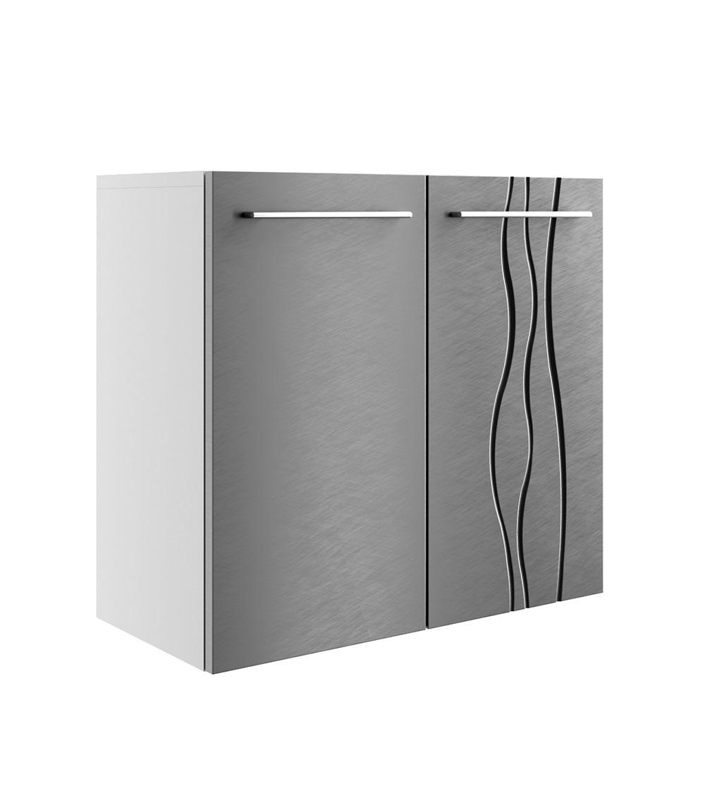 Szafka łazienkowa REMIS 2 fronty stalowy szlifowany