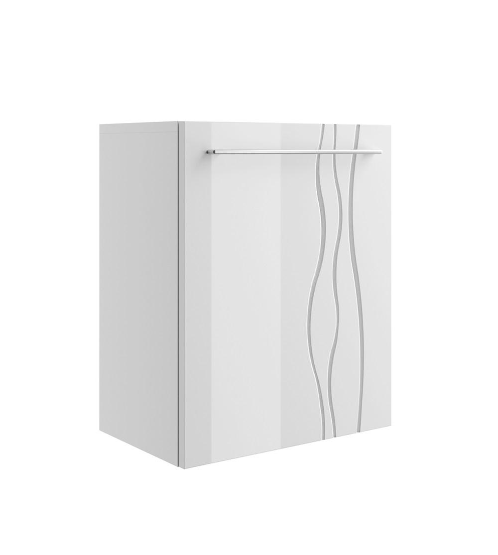 Szafka łazienkowa REMIS 1 front biały połysk