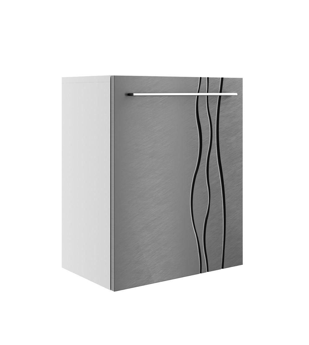 Szafka łazienkowa REMIS 1 front stalowy szlifowany